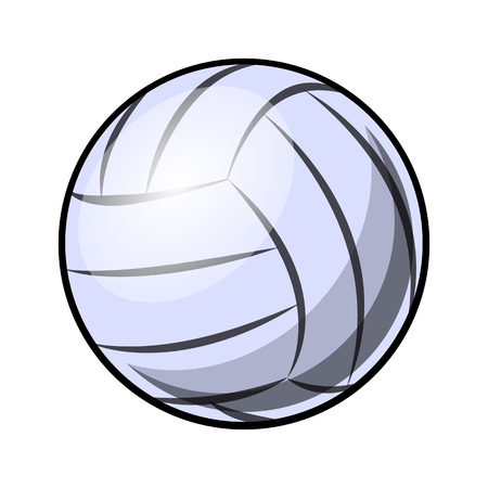 Volleyball ball vector illustration isolated on white background. Ideal for logo design, sticker, decal and any kind of decoration.