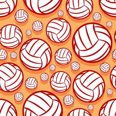 Illustration pour Volleyball ball graphic seamless pattern. Vector illustration. Ideal for wallpaper, packaging, fabric, textile, wrapping paper design and any kind of decoration. - image libre de droit