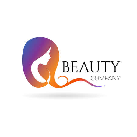 Beauty with female face on white background. Vector