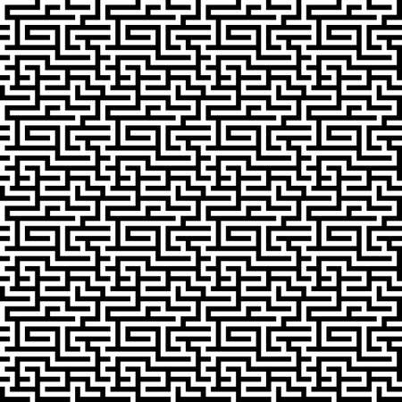 The maze, labyrinth pattern endless, seamless. Vector