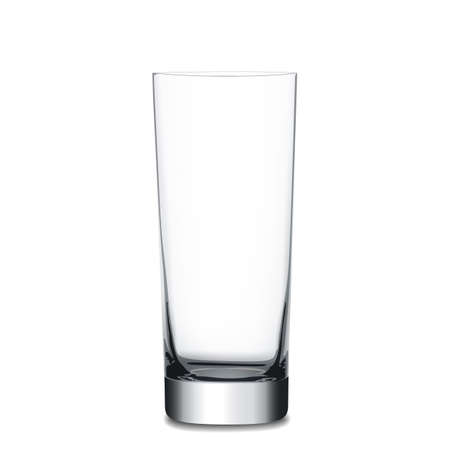 Realistic empty glass, vector illustration on white background