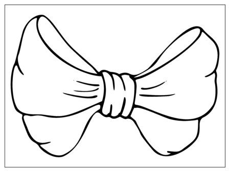 Vector bow flat icon. Single high quality outline symbol of knot for web design or mobile app. Thin line signs of bow-knot for design, visit card, etc. Outline pictogram of bow
