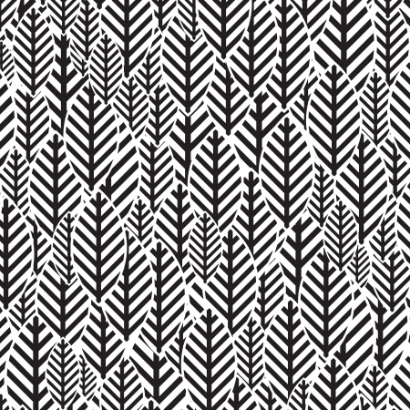 Seamless BW leaf pattern