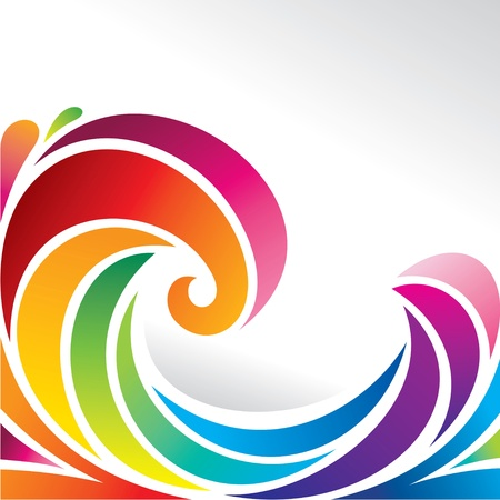 Ilustración de waves of rainbow - Imagen libre de derechos