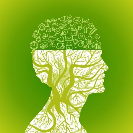 Illustration pour office icons in mind - image libre de droit