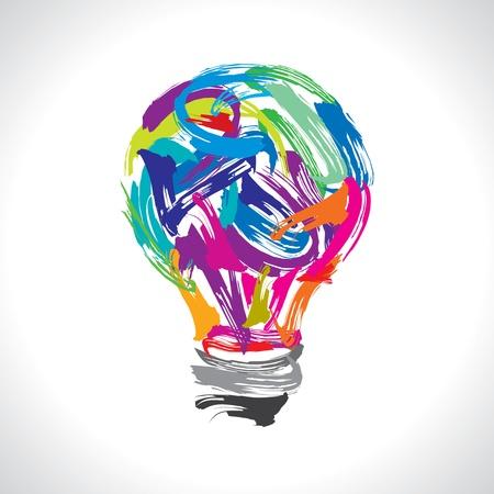 Illustration pour creative painting idea - image libre de droit