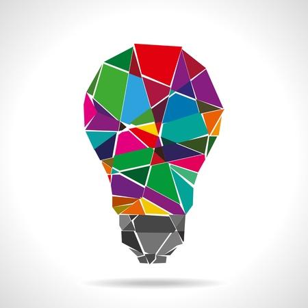 broken colorful idea