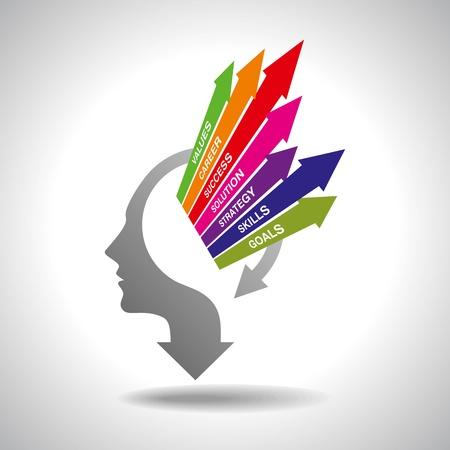 Illustration pour vector of business mind - image libre de droit