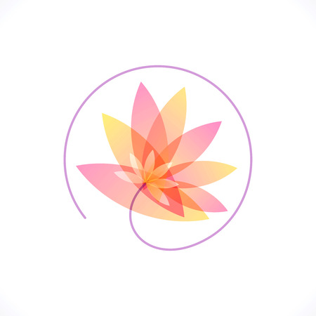Illustration for vector logo design templet, health   spa - Royalty Free Image