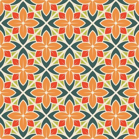 Ilustración de Seamless flower pattern. Vector illustration - Imagen libre de derechos
