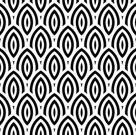 Black and White Oval Pattern
