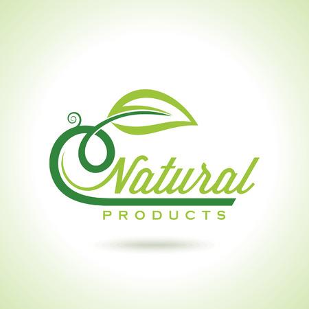 Ilustración de Organic Eco Recycle Green Icons and Labels - Imagen libre de derechos