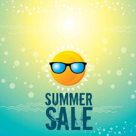 Illustration pour summer sale design template - image libre de droit
