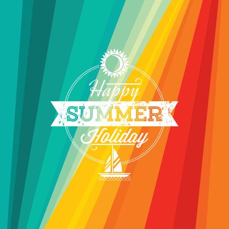 Foto für Summer holidays illustration  summer background - Lizenzfreies Bild
