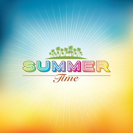 Illustration pour Summer holidays illustration  summer background - image libre de droit
