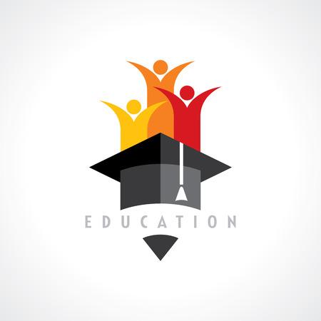 Illustration pour Happy kids Education concept vector - image libre de droit