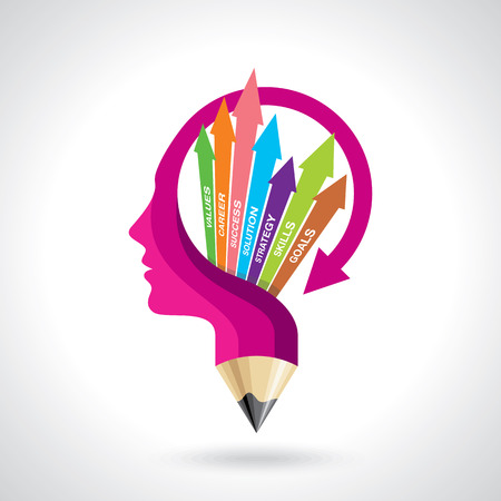 Illustration vector of business mind