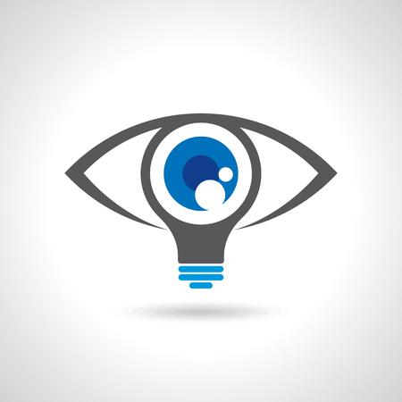 Vektor für vision and ideas sign,eye icon,light bulb symbol ,business concept.vector illustration - Lizenzfreies Bild