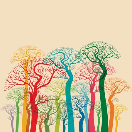 Photo pour autumn abstract tree forest - image libre de droit