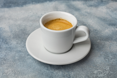 Photo pour A cup of fragrant coffee. Light background - image libre de droit
