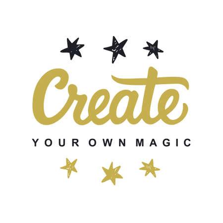 Illustration pour Create Your Own Magic - image libre de droit
