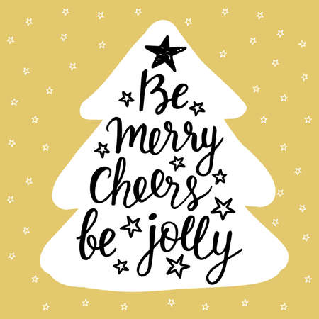 Jolly. Holidays hand written lettering