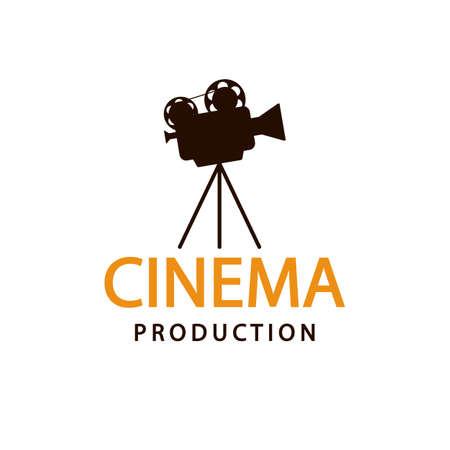 Illustration for Cinema logo. Vector emblem template - Royalty Free Image