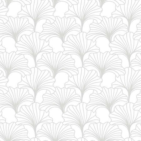 Foto de Hand drawn floral seamless pattern. Japanese, Chinese asian nature textile print. Oriental ornament background. Vector illustration - Imagen libre de derechos