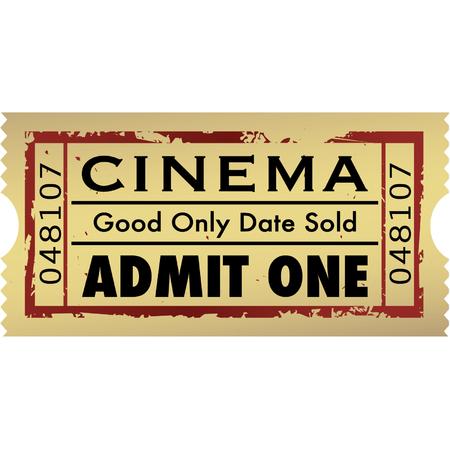 Vector grunge movie ticket