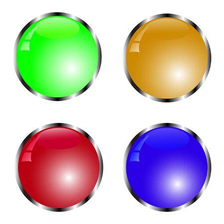 Illustration pour set of colorful button vector illustration - image libre de droit
