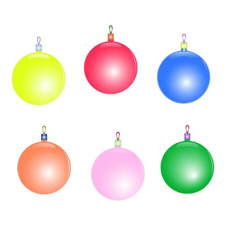 Foto für set of beautiful colorful christmas toys - Lizenzfreies Bild