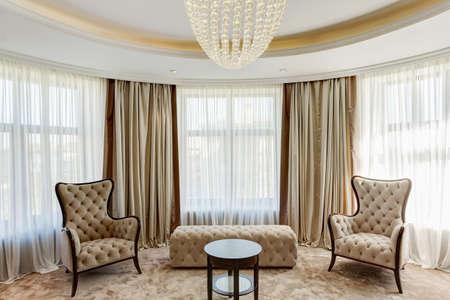 Photo pour Luxury living room with classic interior. - image libre de droit