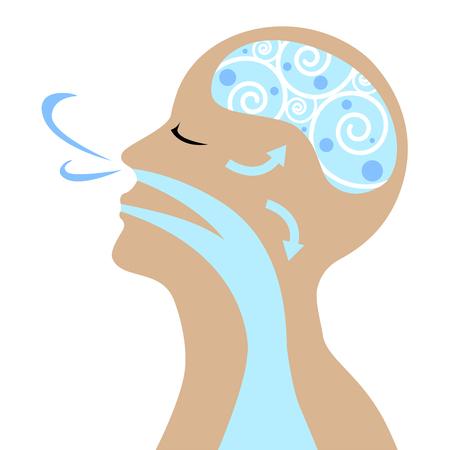 Photo pour People to breathe for good health vector. - image libre de droit