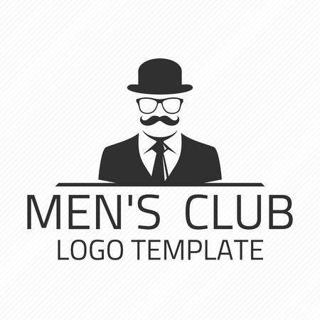 Illustration pour Vintage gentlemen club emblem. - image libre de droit