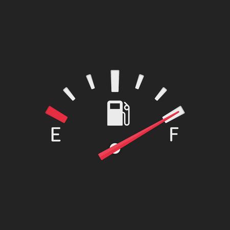 Illustration pour Full fuel gauge icon. - image libre de droit
