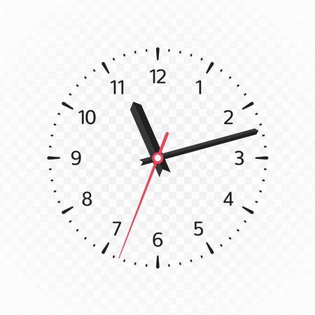 Illustration pour Clock face mockup. - image libre de droit