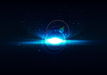 Abstract Digital Space Background Realistic Rays And