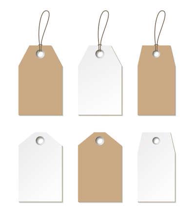 Illustration pour Tags mock up. Vector set of empty labels templates for design - image libre de droit