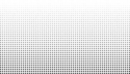 Illustration pour Vector halftone effect background. Monochrome square dots gradient - image libre de droit