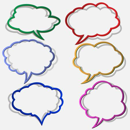 Illustration for Paper bubbles for speech in form clouds.Vector eps 10 - Royalty Free Image