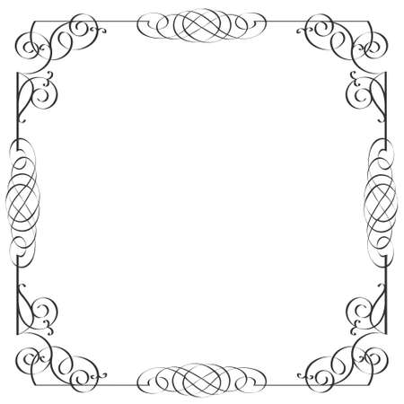 Delicate calligraphic frame.