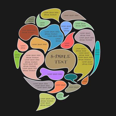 Illustration pour Speech bubble made from different bubbles - image libre de droit