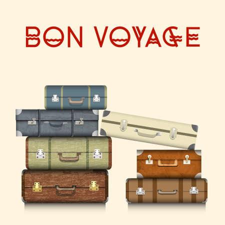 Illustration pour Suitcases  Realistic  - image libre de droit
