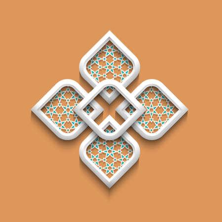 3d elegant pattern in arabic style.