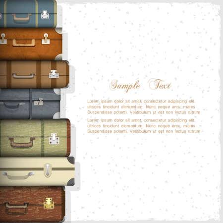 Illustration pour Vector background with suitcases - image libre de droit