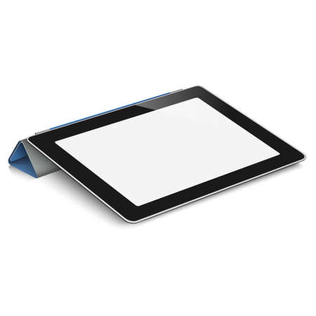 Vector tablet computer  pc  on white background