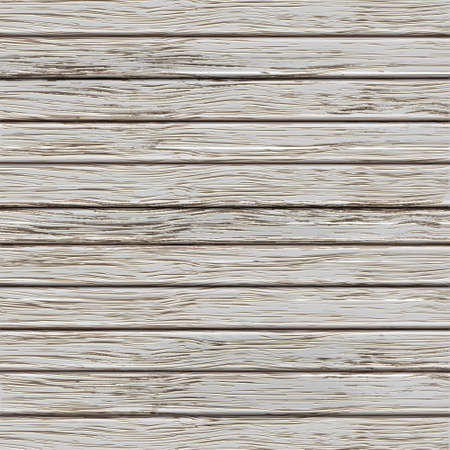 Grey old wooden texture. Vector illustration
