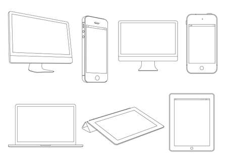Digital devices.Vector set