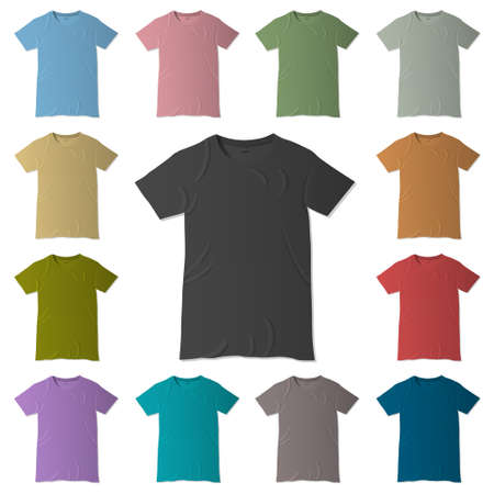 t-shirt design templates in various colors