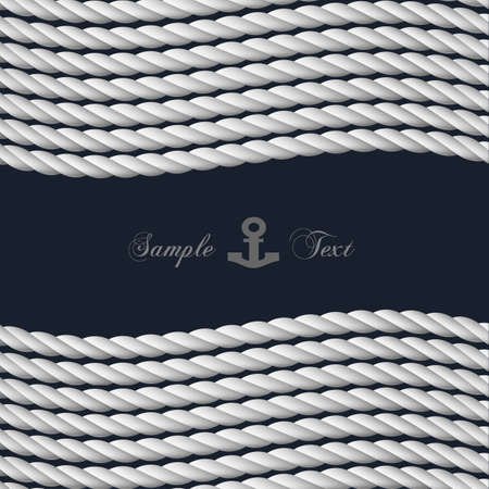 background with nautical rope